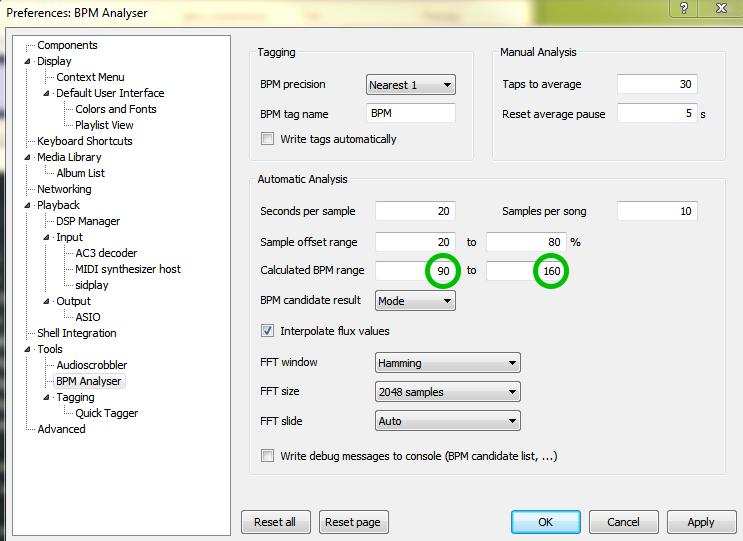Плагин BPM Analyser для Foobar.